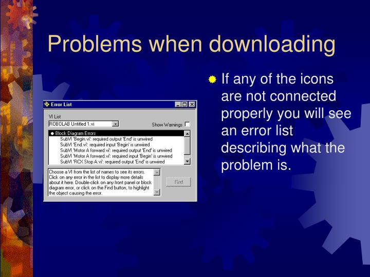 Problems when downloading