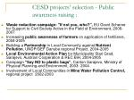 cesd projects selection public awareness raising
