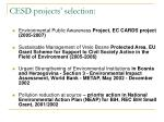 cesd projects selection