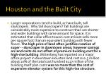 houston and the built city1