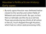 houston s political econ history early 1900s