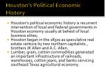 houston s political economic history