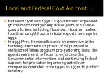 local and federal govt aid cont