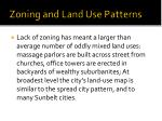 zoning and land use patterns