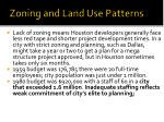 zoning and land use patterns1