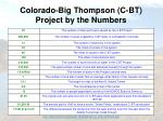 colorado big thompson c bt project by the numbers
