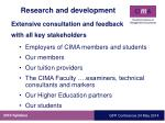 research and development1