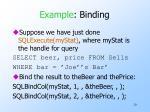 example binding