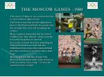 the moscow games 1980