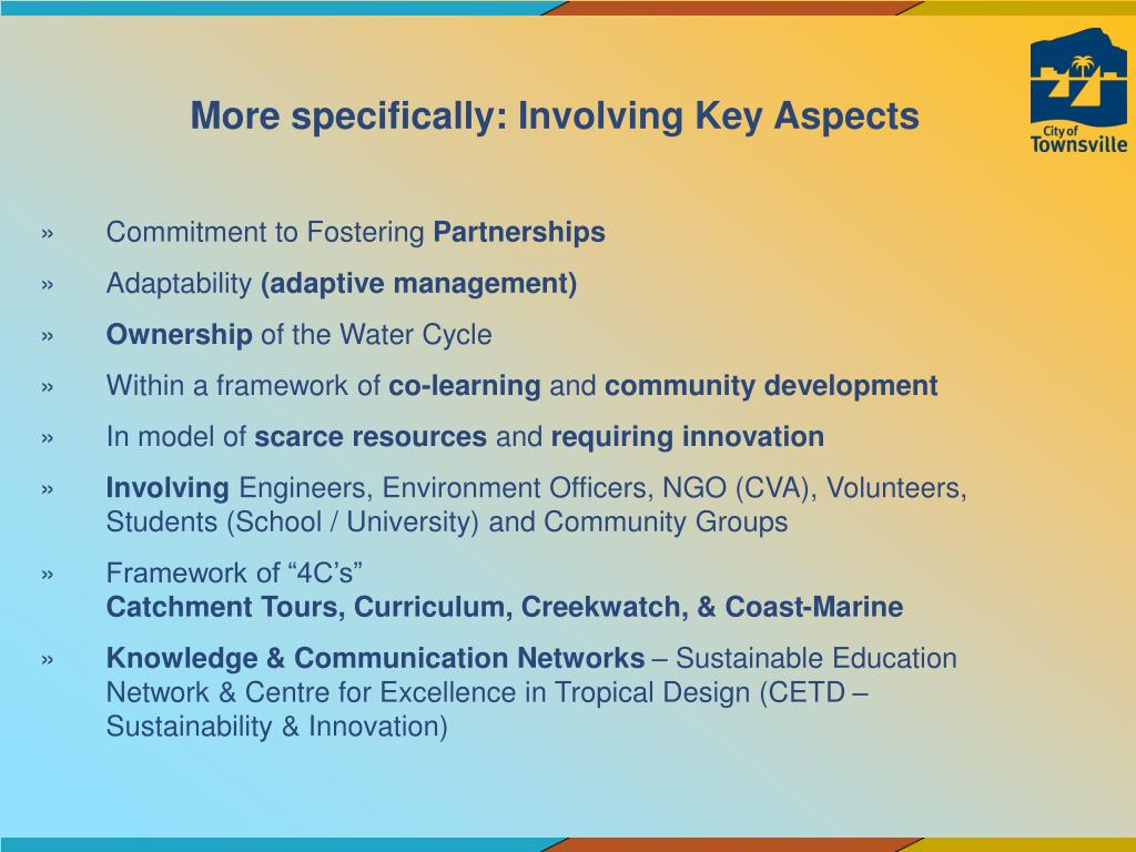 More specifically: Involving Key Aspects