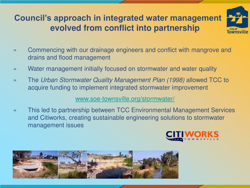 Council's approach in integrated water management evolved from conflict into partnership