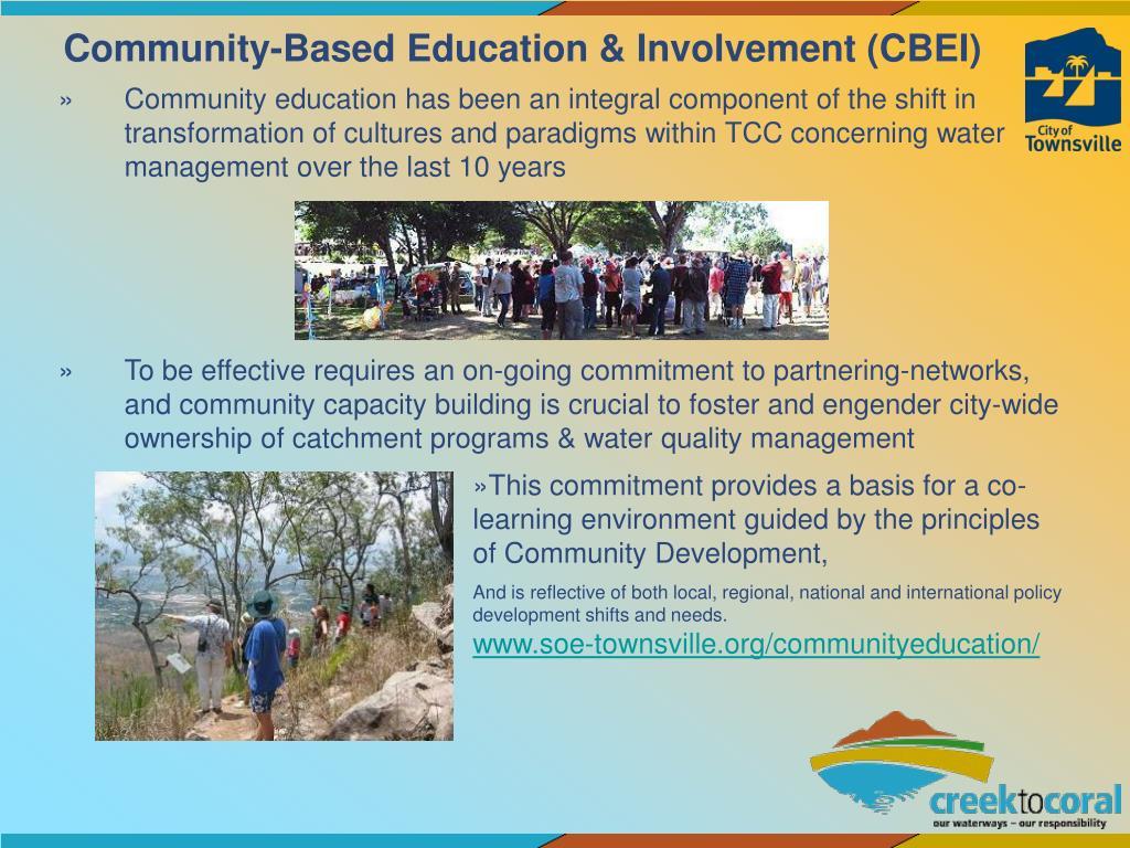 Community-Based Education & Involvement (CBEI)