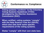 conformance vs compliance