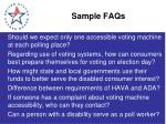 sample faqs
