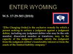 enter wyoming