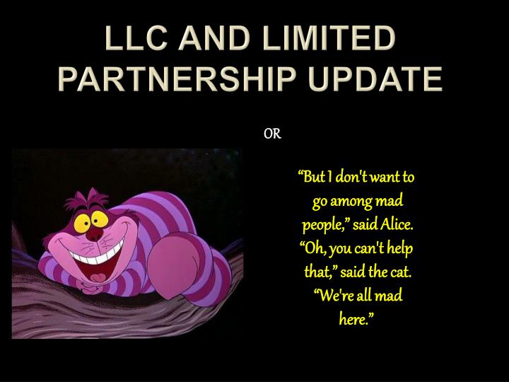 llc and limited partnership update n.
