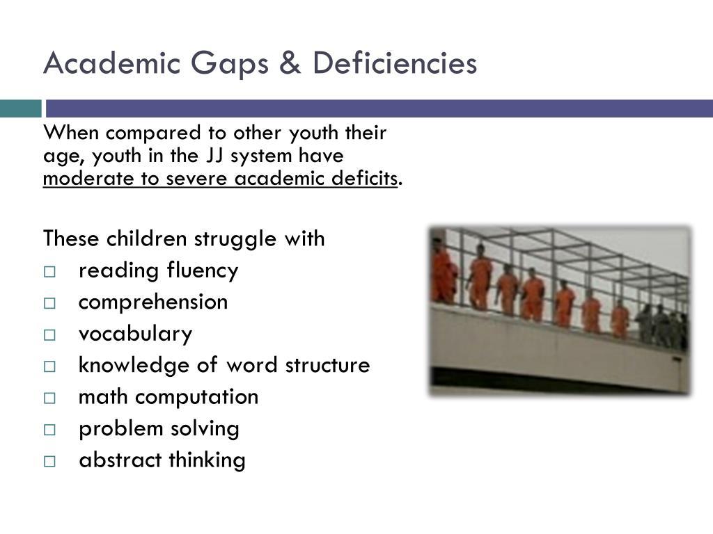 Academic Gaps & Deficiencies