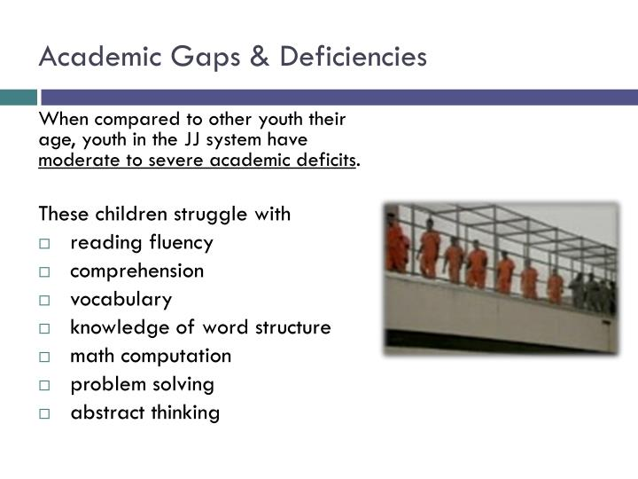 Academic gaps deficiencies