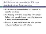 self interest arguments for citizens administrators advocates24