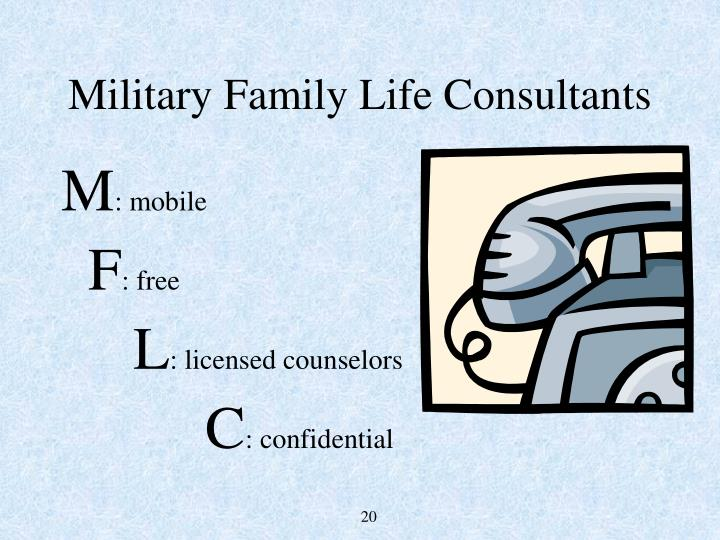 Military Family Life Consultants