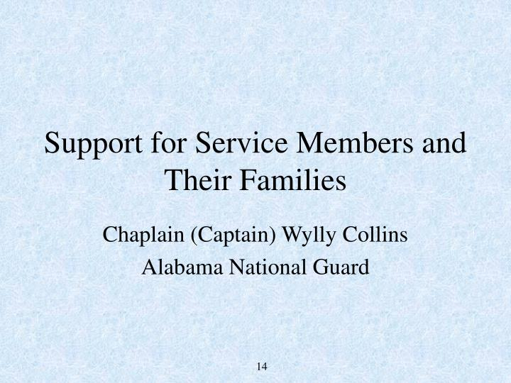 Support for Service Members and Their Families