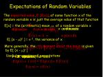 expectations of random variables