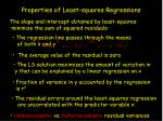 properties of least squares regressions