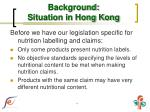 background situation in hong kong