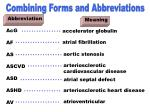 combining forms abrbeviations acg