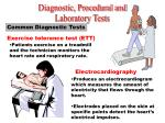 common diagnostic tests