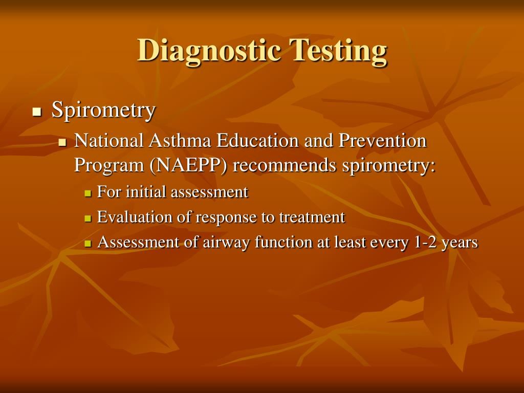 Diagnostic Testing