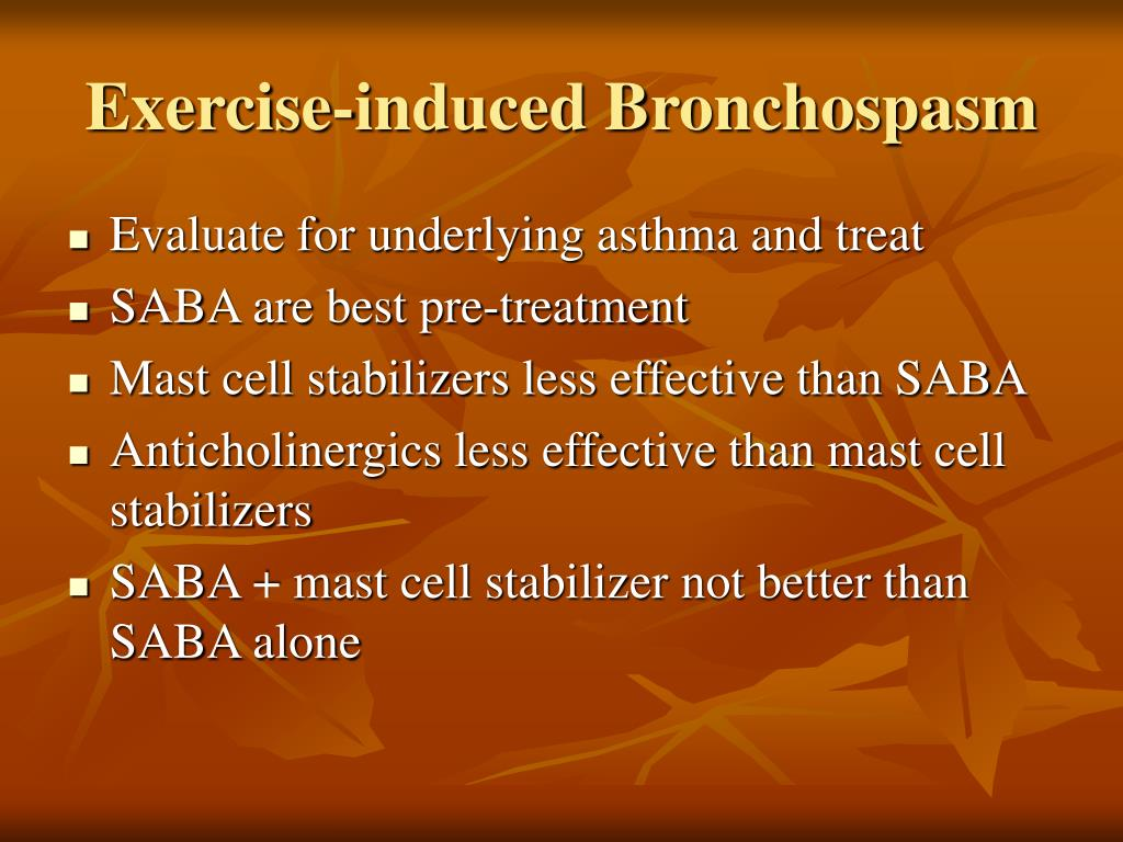 Exercise-induced Bronchospasm