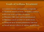 goals of asthma treatment