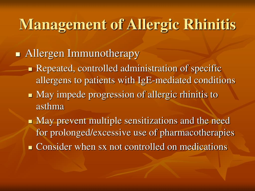 Management of Allergic Rhinitis