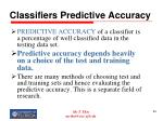 classifiers predictive accuracy