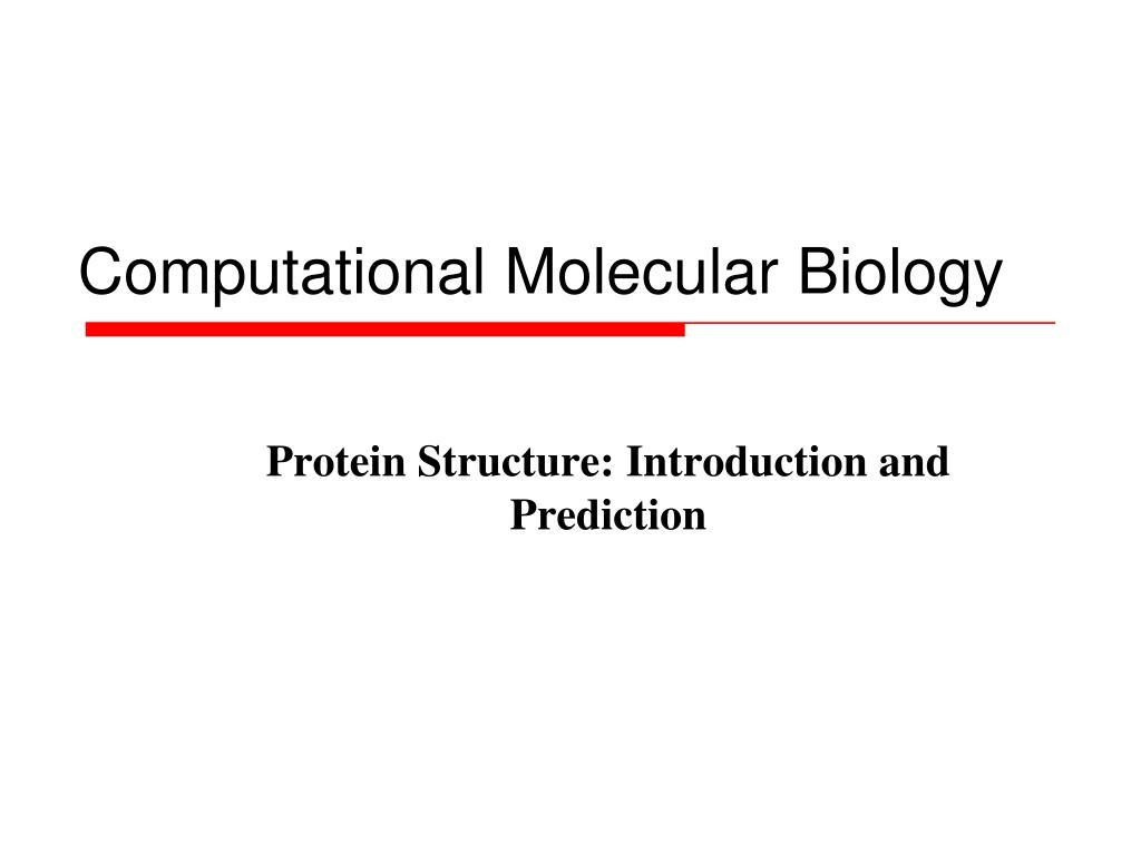 computational molecular biology l.