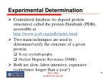 experimental determination