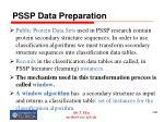 pssp data preparation