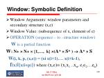 window symbolic definition