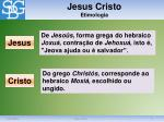 jesus cristo etimologia