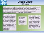 jesus cristo o messias
