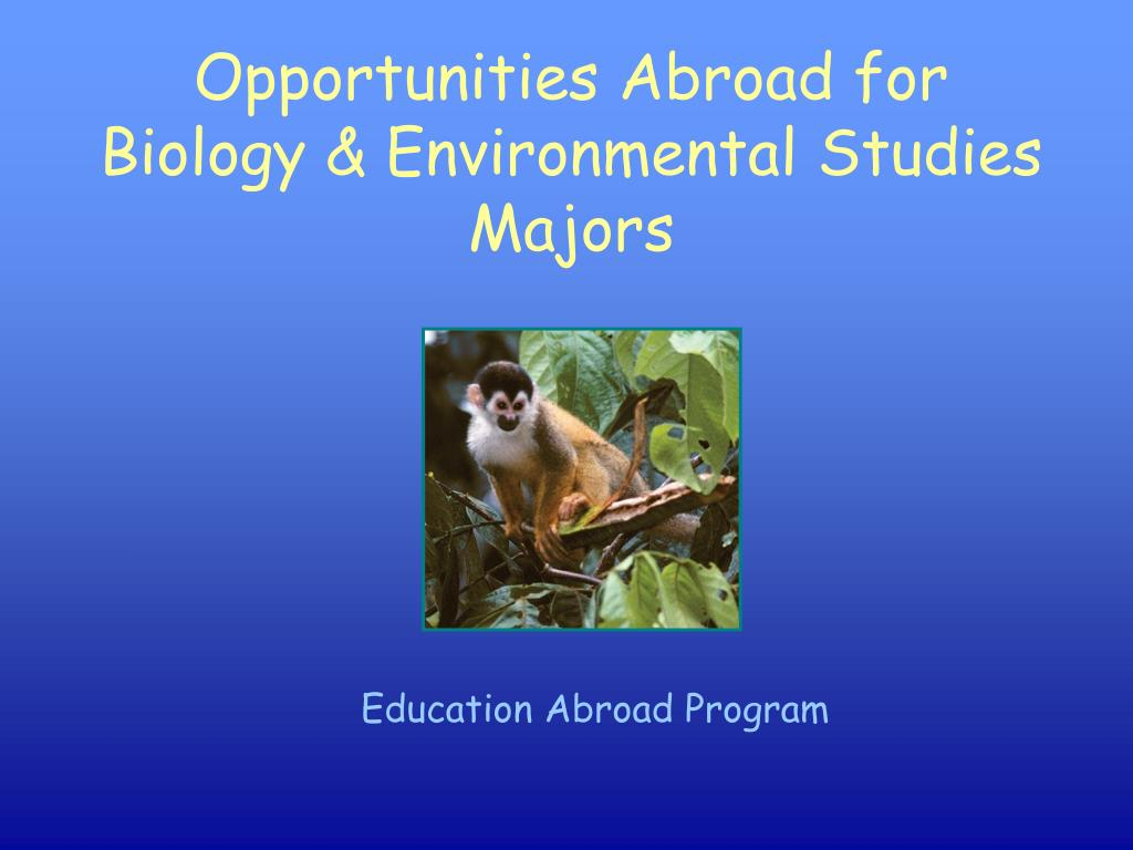 opportunities abroad for biology environmental studies majors l.