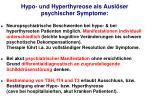 hypo und hyperthyreose als ausl ser psychischer symptome