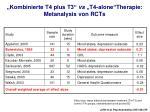kombinierte t4 plus t3 vs t4 alone therapie metanalysis von rcts