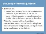 evaluating the market equilibrium3
