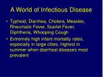 a world of infectious disease