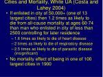 cities and mortality white ua costa and lahey 2004