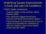 underlying causes improvements in early and late life conditions1