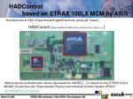 hadcontrol based on etrax 100lx mcm by axis