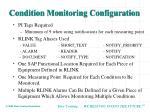 condition monitoring configuration